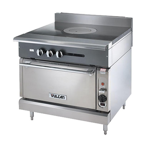 "Vulcan V1FT36S Heavy Duty Range, 36""W, Standard Oven, French Top"