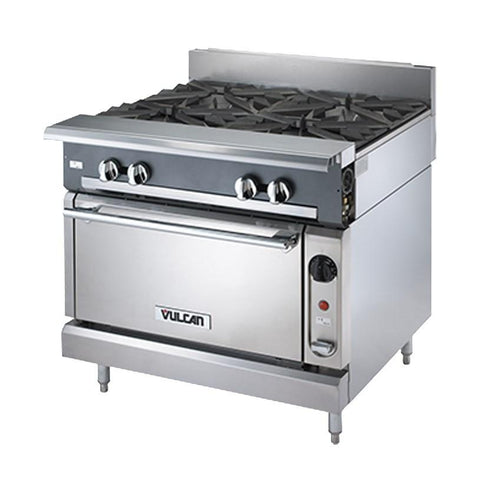 "Vulcan V2FT36S Heavy Duty Range, 36""W, Standard Oven, Dual French Top"