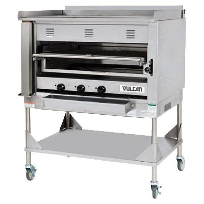 "Vulcan VST4B 45""W Heavy Duty Chophouse Ceramic Broiler with Griddle Top and Stand"