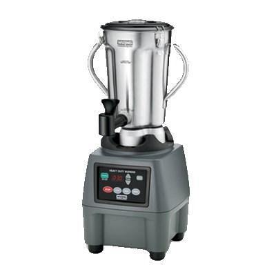 Waring CB15TSF Stainless Steel Food Blender, 1 Gallon, with Timer and Spigot, 3-3/4 HP