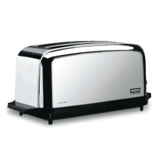 Waring WCT704 4 Slice Commercial Toaster, Wide Slots & Extra Long, NSF