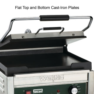 WARING WFG250 Electric Single Sandwich/ Panini Grill, 120V