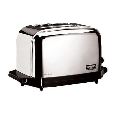 "Waring WCT702 Commercial Toaster, (2) 1-3/8"" wide slots, 120v/60/1-ph"