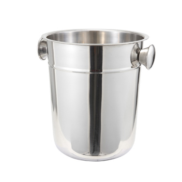 Winco WB-8 Wine Bucket, 8 qt., round, stainless steel, mirror finish