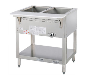 "Duke WB302 Aerohot Steamtable Wet Bath Unit, 30-3/8""L, gas, (2) pan size open water bath with (1) 15,000 BTU burner with adjustable gas valve control & safety pilot, CSA STAR, UL EPH Classified"