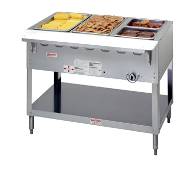 "Duke WB303 Aerohot Steamtable Wet Bath Unit, 44-3/8""L, gas, (3) pan size open water bath with (1) 15,000 BTU burner with adjustable gas valve control & safety pilot, CSA STAR, UL EPH Classified"
