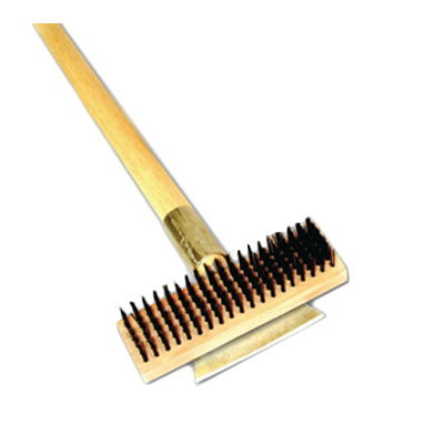 "Thunder Group WDBS027H 27""L Heavy Duty Wire Brush w/ Scraper"