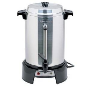 West Bend 13500 Coffee Urn, 55 cup capacity, manual fill, 120v/50/60/1-ph, 12.5 amps, 1,500 watts, NEMA 5-15P, cULus, NSF