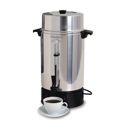 West Bend 33600 Coffee Urn, 100 cup capacity, manual fill, 120v/50/60/1-ph, 12.5 amps, 1,500 watts, NEMA 5-15P, cULus, NSF