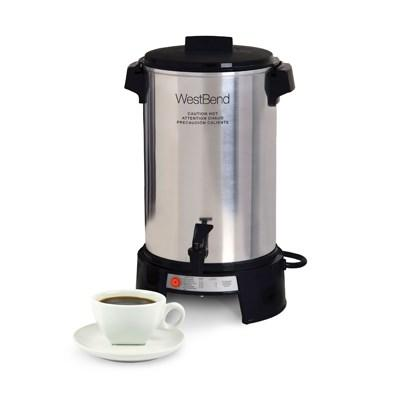 West Bend 43536 Coffee Urn, 36 cup capacity, manual fill, 120v/50/60/1-ph, 9.1 amps, 1,090 watts, NEMA 5-15P, cULus, NSF