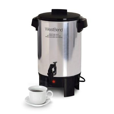 West Bend 58030 Coffee Urn, 30 cup capacity, manual fill, 120v/50/60/1-ph, 9.1 amps, 1,090 watts, detachable NEMA 1-15P, cULus, NSF
