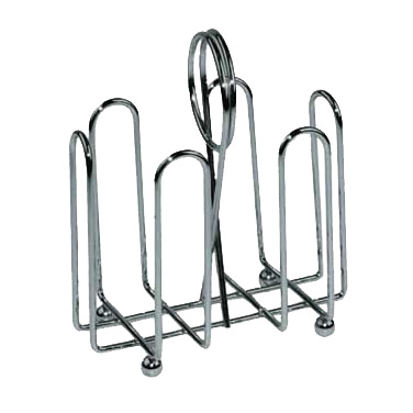 Winco WH-2 Sugar Packet Holder, chrome plated wire with ball feet and center clip