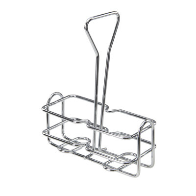 Winco WH-3 Oil & Vinegar Cruet Rack, square, chrome plated wire, holds (2) 6 oz. containers (G-104)