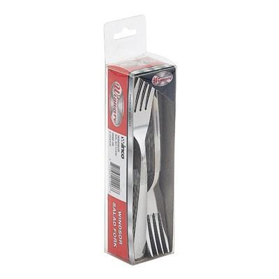 "Winco 0082-06 Salad Fork 6-1/4"", Stainless Steel, Medium Weight, Windsor"