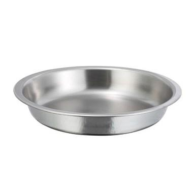 Winco 203-FP Round Food Pan 4 Qt, Stainless Steel