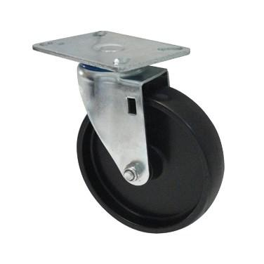 "Winco ALRC-5P Caster, 5"" Dia, With Mounting Plate, Without Brake, For ALRK-3"