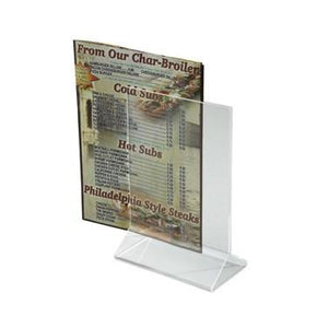 "Winco ATCH-46 Double-Sided Clear Acrylic Menu Stand, 4"" X 6"""