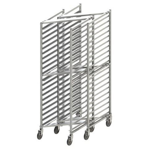 Winco AWZK-20 20-Tier Welded Nesting Rack with Brakes