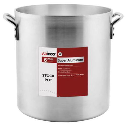 Winco AXHH-100 Aluminum Stock Pot 100qt