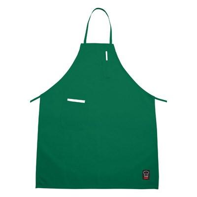 "Winco BA-PLG Signature Chef Apron 33"" x 26"" Full-Length with (2) Pockets, Light Green"