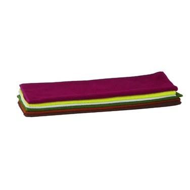 "Winco BTM-16AC Microfiber Towel, 16"" X 16"", 6 Pack, Assorted"