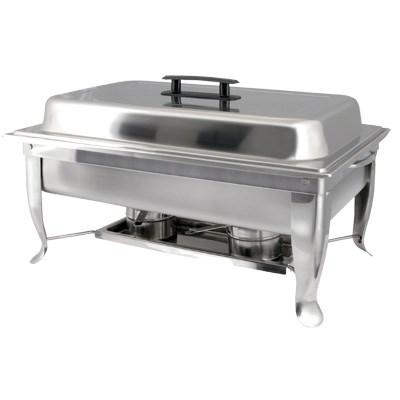 Winco C-1080 Bellaire 8 Qt Full-Size Chafer, Folding Frame, Stainless Steel