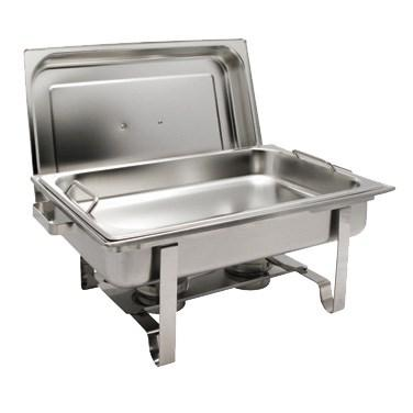 Winco C-2080B Get-A-Grip 8 Qt Full-Size Chafer, Stainless Steel
