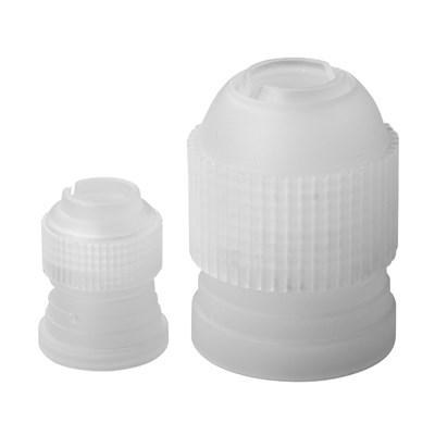 Winco CDTC-2 Couplings, 2-Piece Set, Small And Large, Plastic, White
