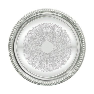 Winco CMT-14 Chrome-Plated Serving Tray, Round 14""