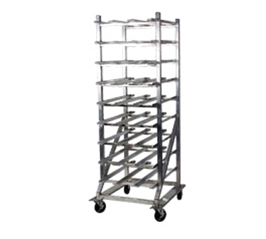 "Winholt CR-162M Rack, Can Storage, mobile design with casters, welded aluminum tubing, 27 1/2""W, 35""D, 76""H, NSF"