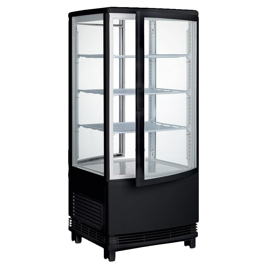 Winco CRD-1K Countertop Refrigerated Beverage Display, Black