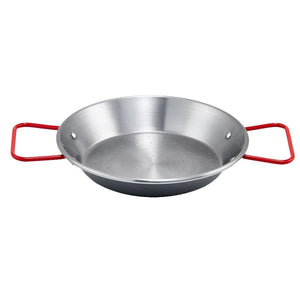 Winco CSPP-14 Paella Pan, Polished Carbon Steel, Made in Spain, 14-1/8""