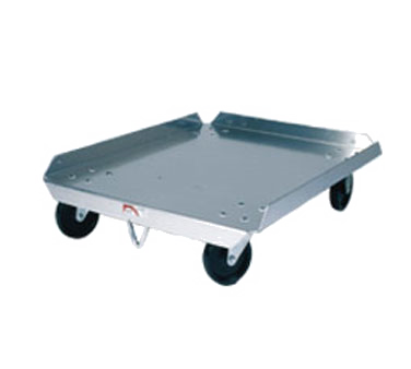 "Winholt D-2027 Pizza Dough Box Dolly, 27"" x 20"" x 8"", aluminum construction, 4"" casters, 300 lb capacity, NSF"
