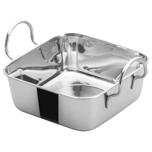 "Winco DDSB-102S Mini Roasting Pan, Stainless Steel, 5-3/16"" Square"