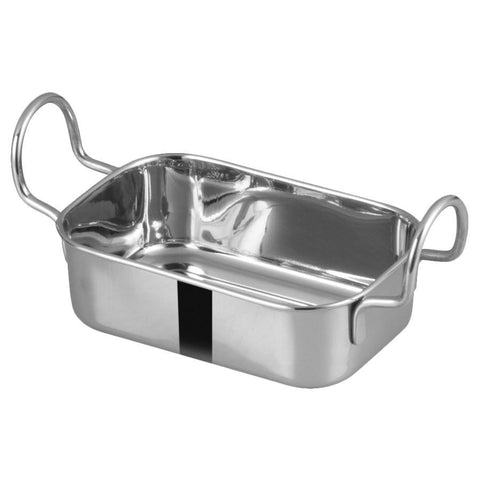 "Winco DDSB-104S Mini Roasting Pan, Stainless Steel, 5-3/4"" X 3-3/4"""