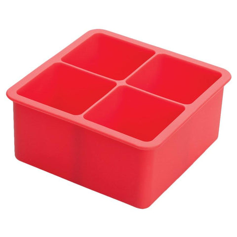 Winco ICCT-4R 4-Cube Silicone Ice Cube Tray
