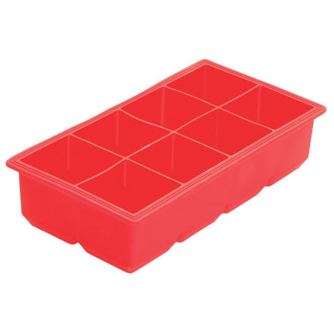 Winco ICCT-8R 8-Cube Silicone Ice Cube Tray