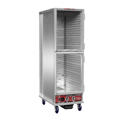 "Winholt NHPL-1833-ECOC-2D Non-Insulated Economy Heater/Proofer Cabinet, mobile, full height, 20-1/2""W x 32-1/3""D x 66-1/2""H, NEMA 5-15P, 14.0 amps, 1440 watts, 120v/60/1-ph, cETLus, NSF"