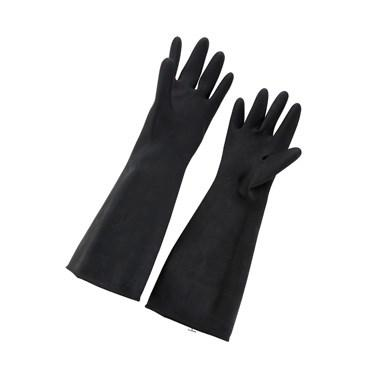 Winco NLG-1018 Natural Latex Gloves, Large, Black