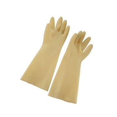Winco NLG-916 Natural Latex Gloves, Medium, Yellow