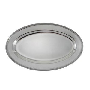 "Winco OPL-14 Oval Platter, 14"", heavy stainless steel"