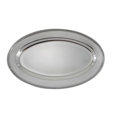 "Winco OPL-16 Oval Platter, 16"", heavy stainless steel"