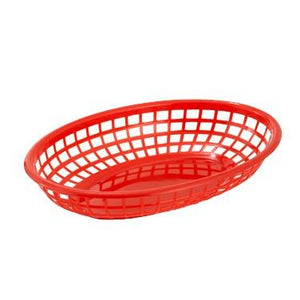 Winco PFB-10R Oval Fast Food Basket– Red