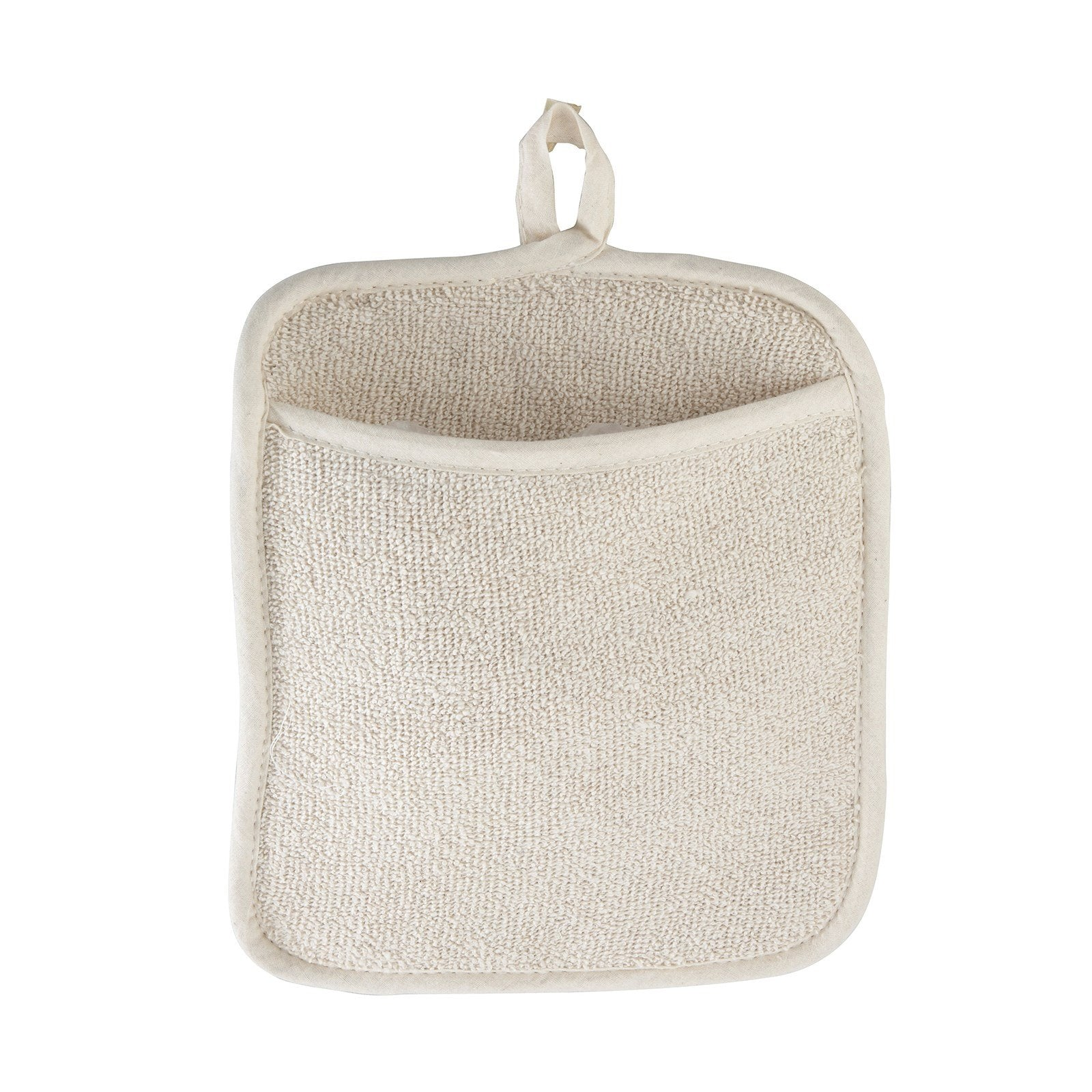 "Winco PH-9W White Terry Pot Holder with Pocket 8-1/2"" x 9-1/2"""