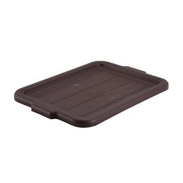 Winco PL-57B Cover For Standard Dish Boxes, Brown