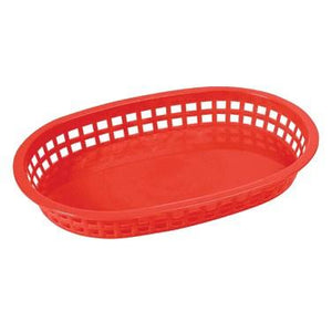 Winco PLb-R Oval Platter Baskets, Red