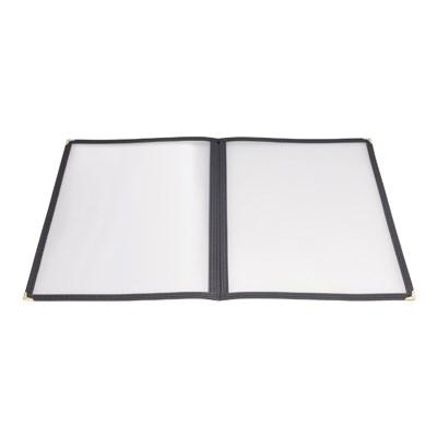 Winco PMCD-9K Book-Fold Double Panel Menu Cover, Black, 9-3/8 X 12-1/8