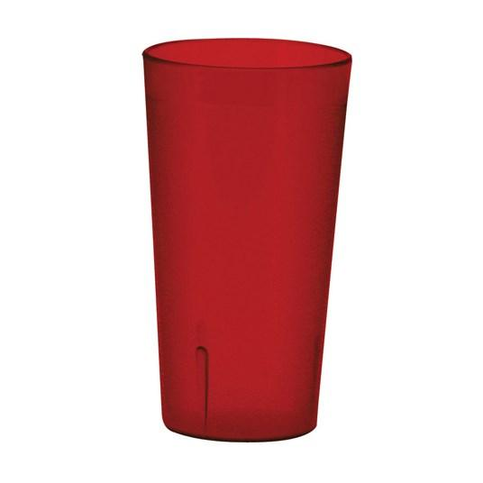 Winco PTP-24R Pebbled Tumblers, 24 Oz, Red