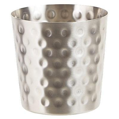 "Winco SFC-35H Stainless Steel Fry Cup, Hammered, 3-1/4"" Dia X 3-1/2""H"
