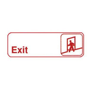 "Winco SGN-381W Information Signs, 9""W X 3""H, Exit"